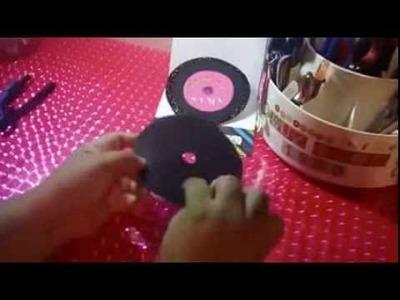MANUALIDADES INVITACION para FIESTA de ROCK AND ROLL(disco)