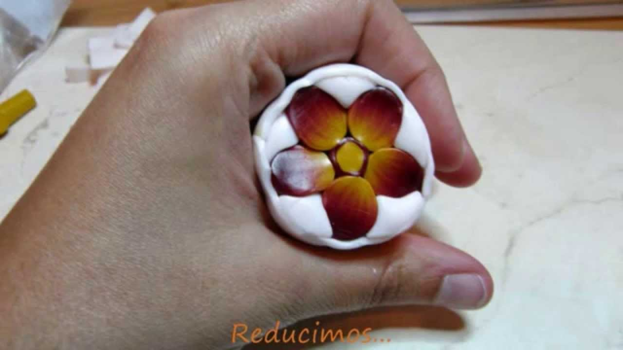 Murrina pensamiento en arcilla polimérica - Polymer clay pansy cane