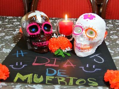 DIY Calavera de Azúcar y chocolate - Dia de Muertos 2014