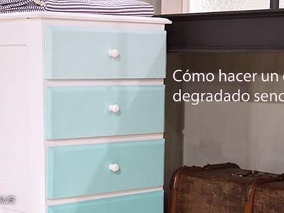 DIY: Cómo pintar un mueble degradado u ombré | Decoración hazlo tú mismo