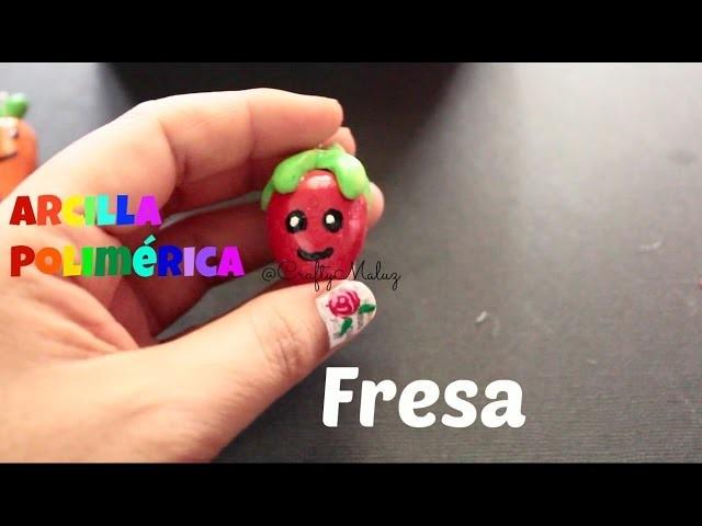 DIY♥Polymer Clay Charm Strawberry Charm Kawaii. Fresa Kawaii De Arcilla Polimerica