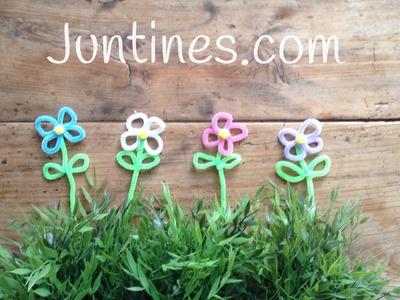 Flores de limpiapipas, manualidades para decorar