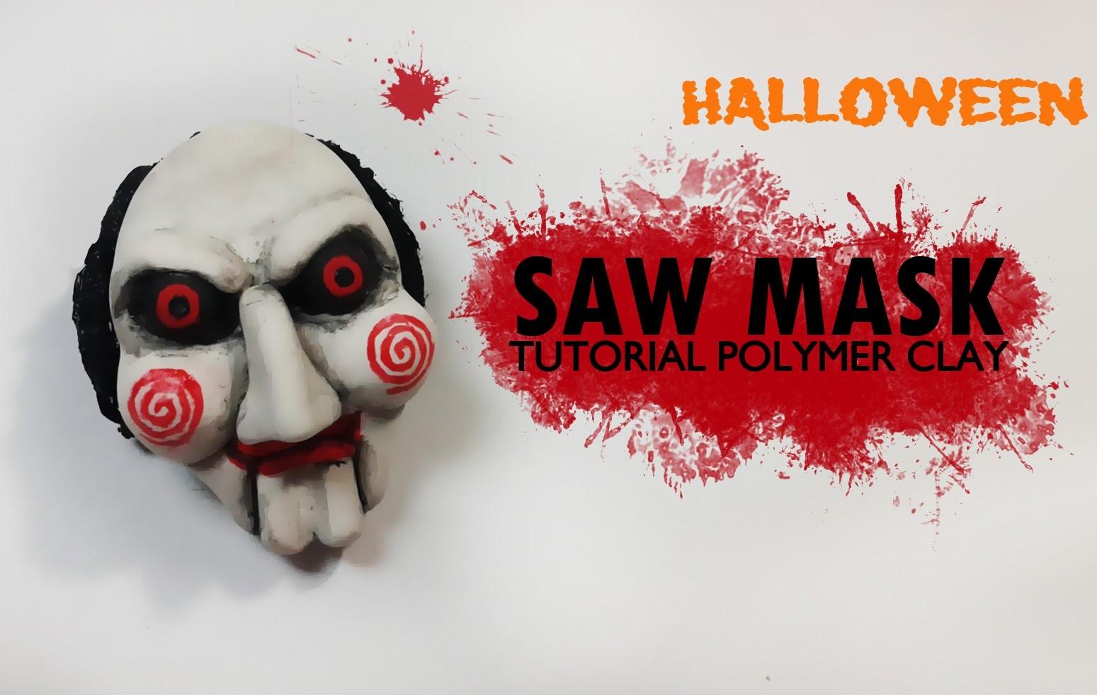 Halloween. Saw Mask Polymer Clay Tutorial. Máscara de Saw Arcilla Polimérica
