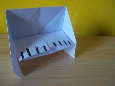 Manualidades con Dany - Como hacer un piano de papel
