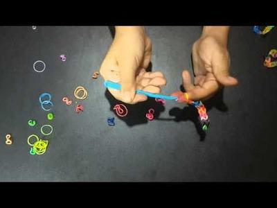 Manualidades de Angie ** Como hacer pulseras de dos ligas**