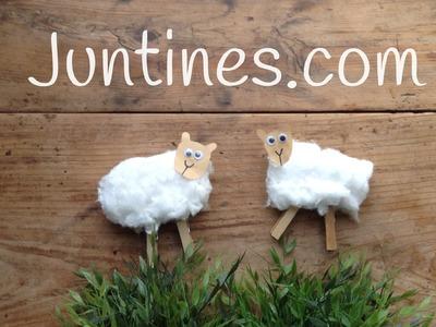 Manualidades de animales: ovejita con algodón