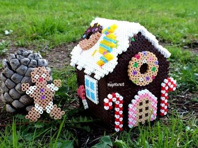 Manualidades Navidad: CAJA o DULCERO + MUÑECO DE JENGIBRE (hama beads)