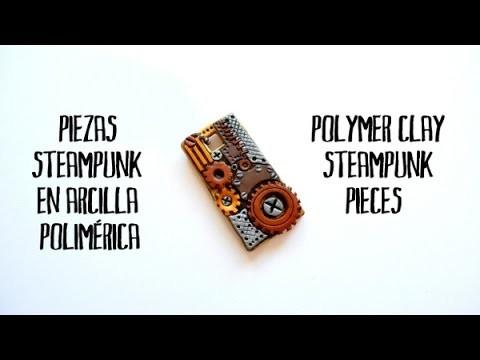 Piezas steampunk en arcilla polimérica - Polymer clay steampunk pieces
