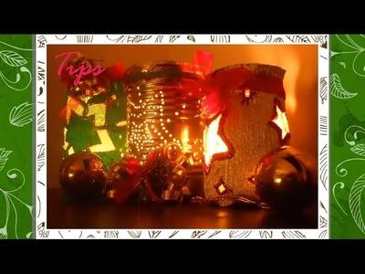 Portavelas Navideños - DIY - Manualidades de Navidad