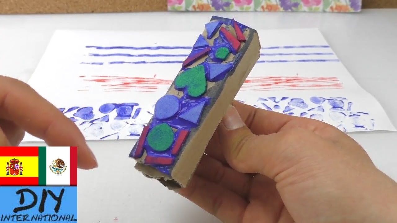 7 ideas para hacer sellos - COMO HACER SELLOS  CASEROS - Manualidades para niños