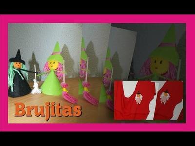BRUJITAS PARA HALLOWEEN - MANUALIDADES