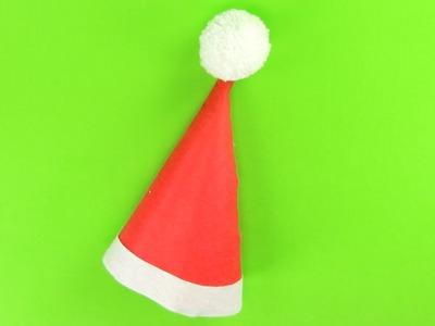 Cómo hacer un gorro de Papá Noel para Navidad | Manualidades infantiles