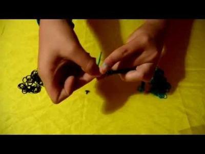 Como hacer una pulsera de gomas | manualidades tijeras | D.I.Y.