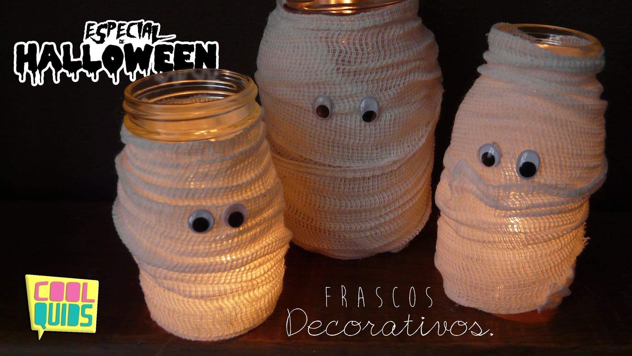 DIY ♡ Frascos Momias para halloween.