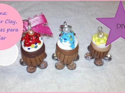 Fásina: DIY Polymer Clay, Como Hacer Cupcakes para collares