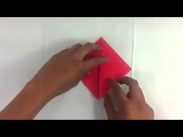 Hacer corazón de origami - Manualidades de papel