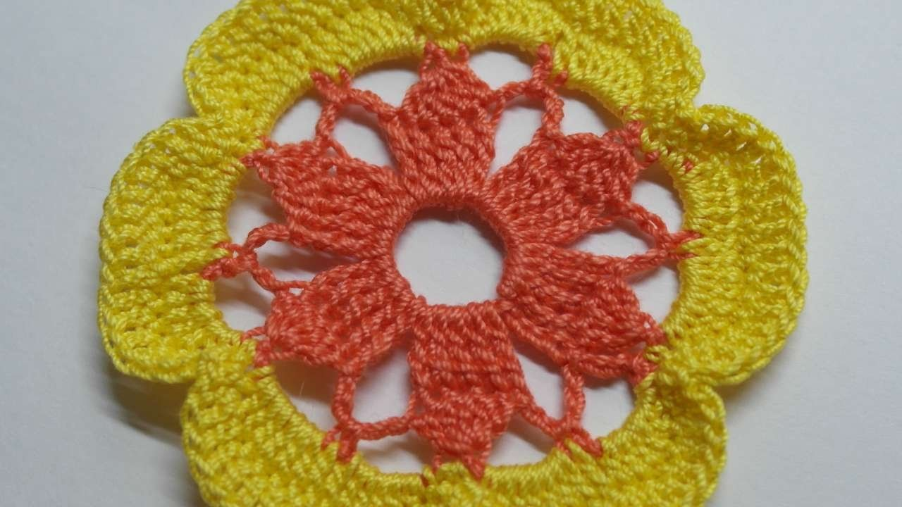 Haz una Flor de Dos Colores de Punto - Hazlo tu Mismo Manualidades - Guidecentral