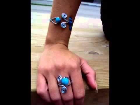 Manualidades Anillos y Pulseras de Alambre BRACELETS RINGS AND WIRE