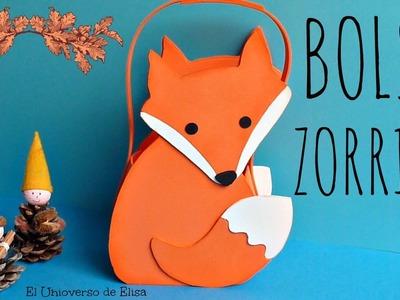 Manualidades con Goma Eva o Foamy, Bolso para Caramelos Zorrito Kawaii, Otoño, Halloween