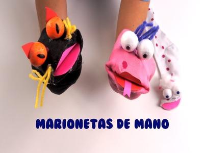 MARIONETAS DE MANO - Cómo hacer marionetas - Manualidades para niños