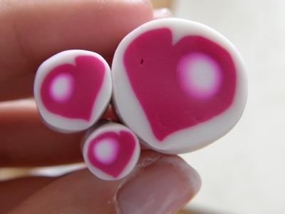 Murrina corazón en arcilla polimérica - Polymer clay heart cane