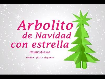 ARBOLITO DE NAVIDAD CON ESTRELLA » Manualidades Navideñas