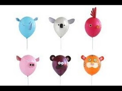 Como hacer manualidades con globos para niños 8