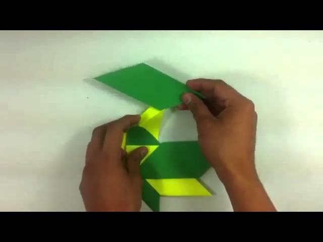 Estrella de origami - Manualidades para niños