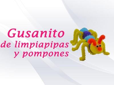 GUSANITO DE POMPONES Y LIMPIAPIPAS » Manualidades Infantiles