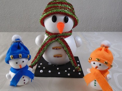Manualidades de navidad - Cómo hacer un muñeco de nieve