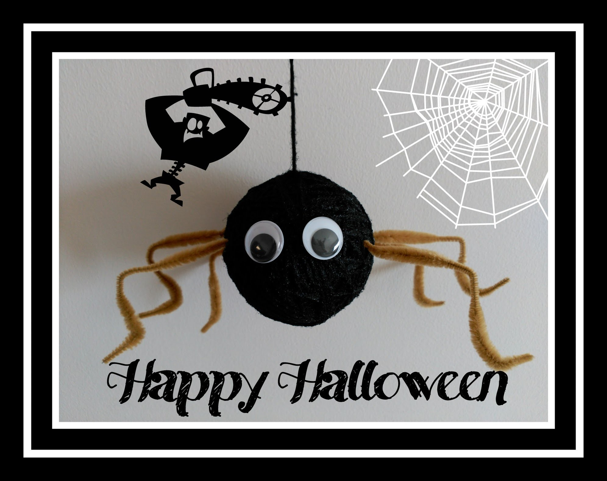 Manualidades Halloween. Decoración infantil.Araña