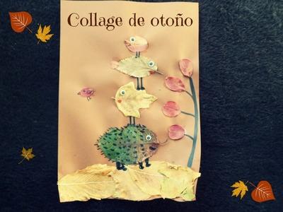 Manualidades Infantiles: DIY Collage de otoño con hojas secas