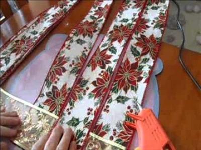 Manualidades Navideñas Tapete navideño paso a paso