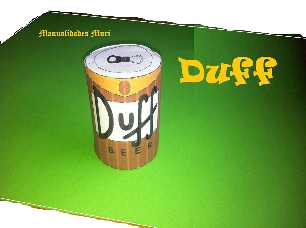 Manualidades, Paper Toys, Duff Cerveza de Los Simpson.