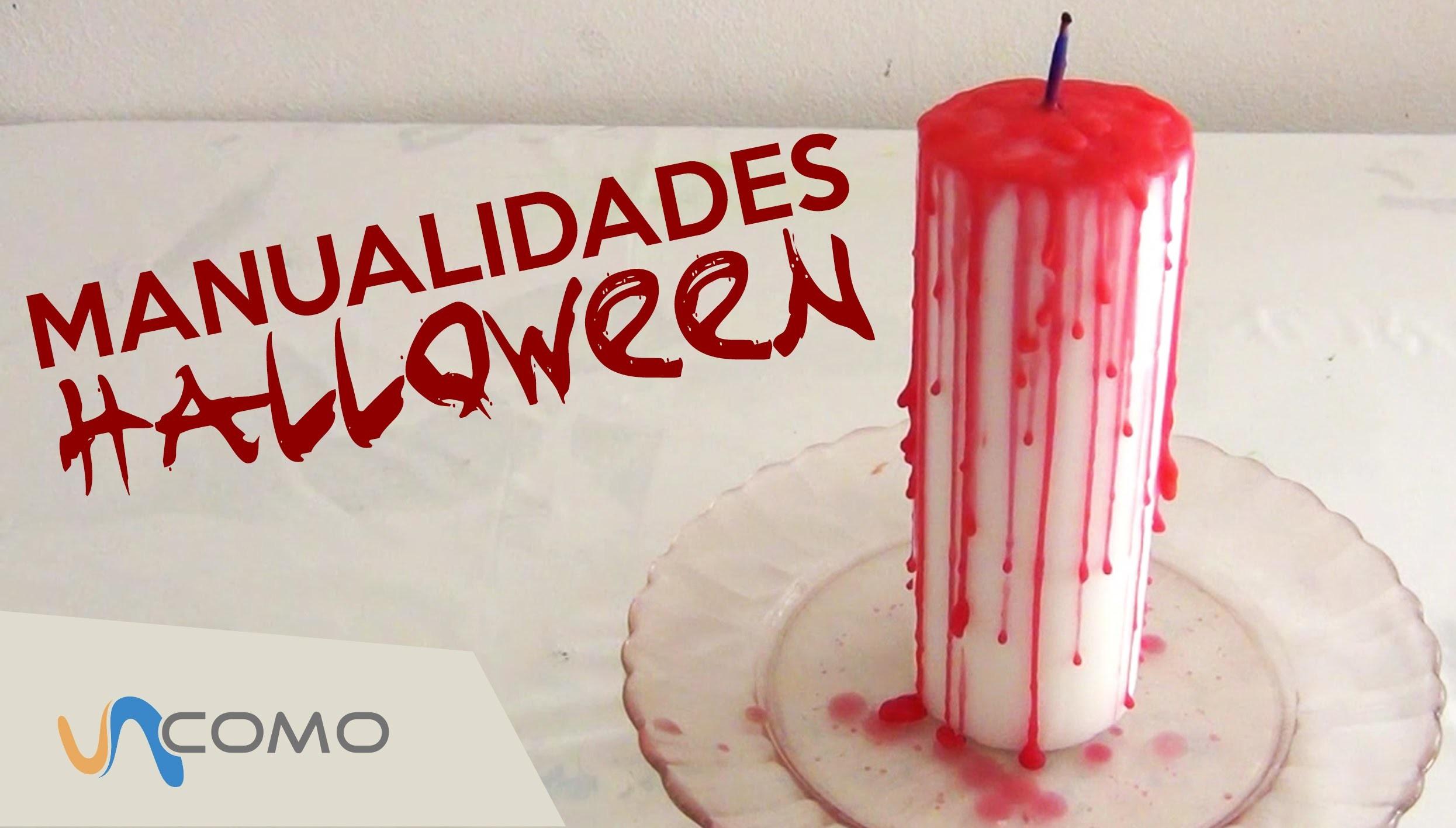 Manualidades para Halloween - Vela ensangrentada