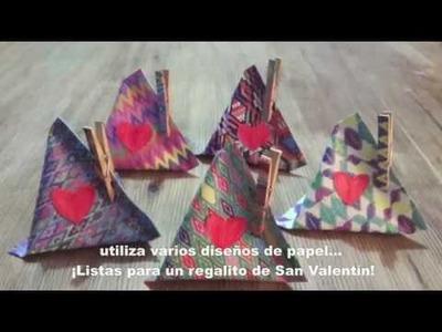 Mini bolsita típica. DIY Mini gift bag for Valentine´s