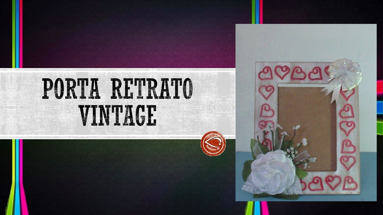 Portaretrato Vintage Con Rosa || Manualidades Cri || Tu Lo Imaginas, Nosotros Lo Creamos