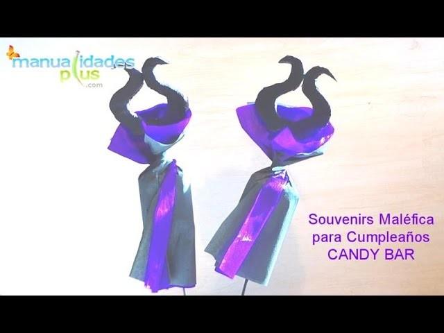 Souvenirs Maléfica para Cumpleaños Candy Bar Manualidades para Halloween