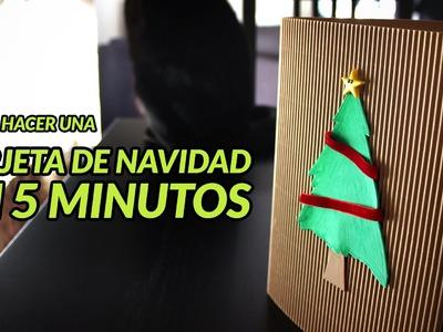 Tarjetas de navidad | Manualidades Navideñas | Manualidades con goma eva