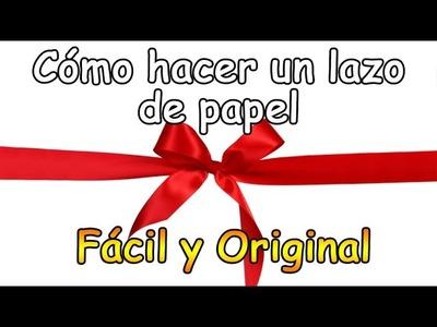Tutorial: Cómo hacer un lazo para regalos con papel de envolver - Manualidades Fáciles para Regalar