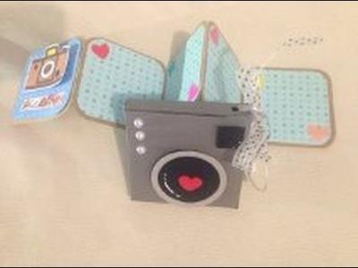 DIY: Álbum acordeón con Caja-cámara scrapbook