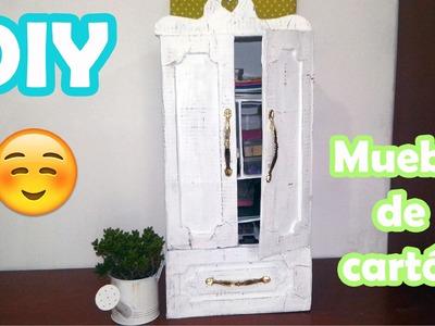 DIY ♥ Mueble de cartón ♥ Reciclado