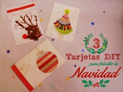 Manualidades: 3 formas de crear Tarjetas de Navidad DIY
