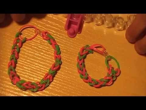 Como hacer pulsera simple rainbow loom(sin telar)