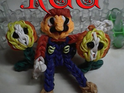 Haciendo la Flor de Mario Bross (Rainbow Loom)