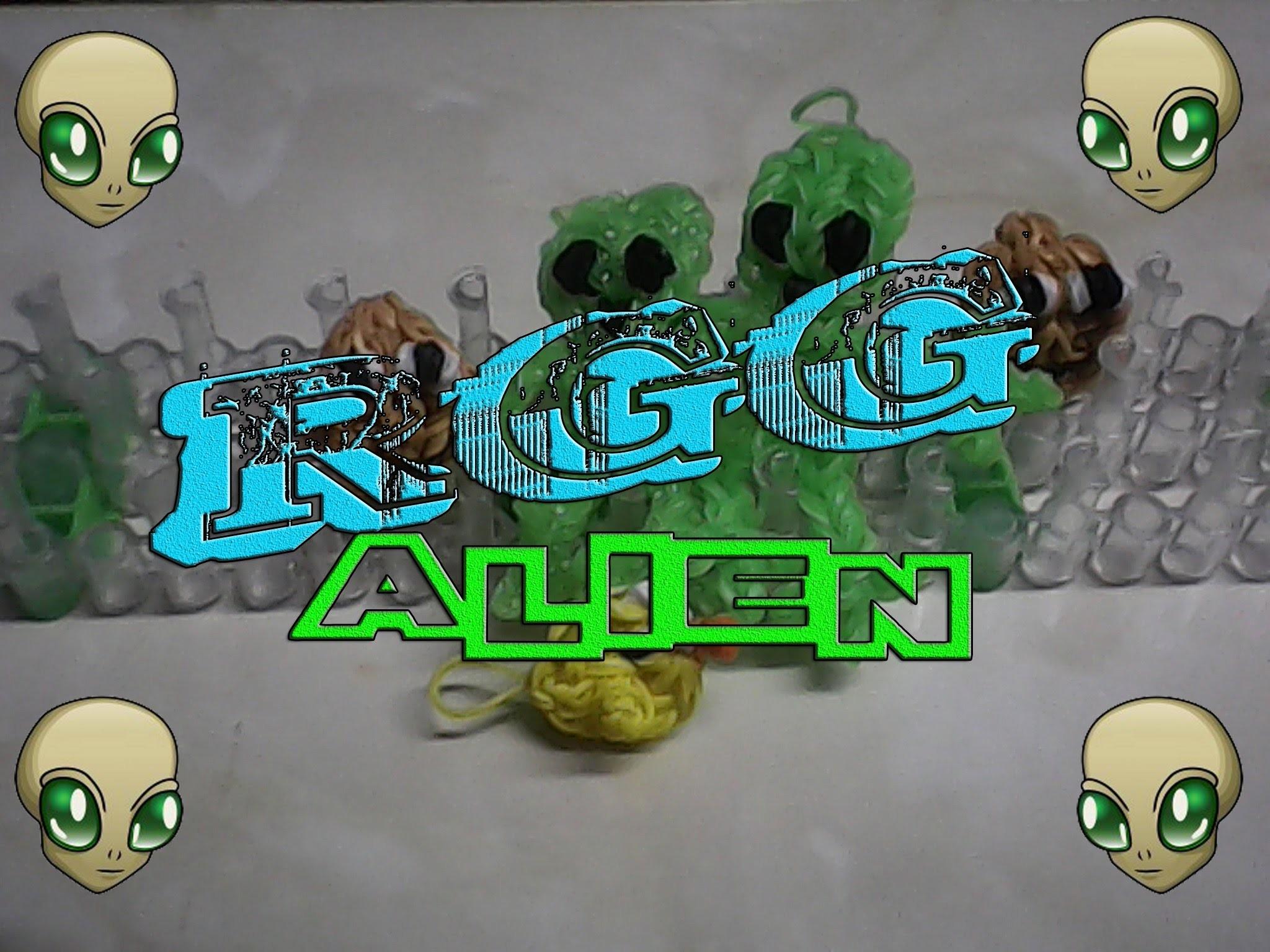 Haciendo un Alien con gomitas (Rainbow Loom)
