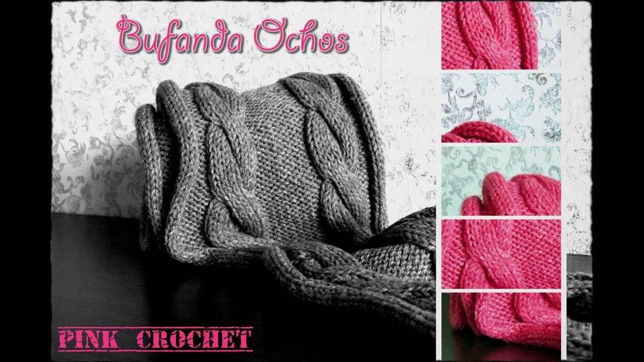 Bufanda Ochos Pink Crochet