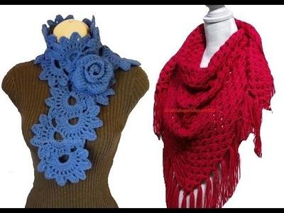 Chal Bufanda flores crochet