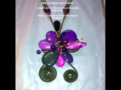 Collares de Cristal y Piedras  Semipreciosas   www sueñosycaprichos es