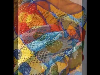Como Tejer Manta Multicolor Cuadros a crochet